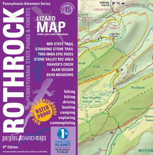 Purple Lizard Rothrock State Forest Lizard Map