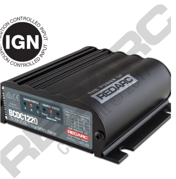 REDARC- 20A In-Vehicle DC Battery Charger (Ignition Control)