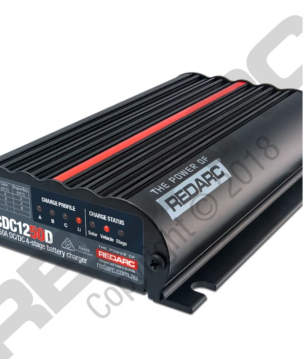 REDARC- Dual Input 50A In-Vehicle DC Battery Charger