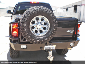 Aluminess Rear Bumper - Dodge Ram