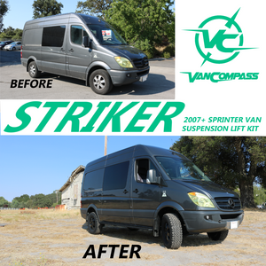 "VAN COMPASS™ 2007-PRESENT (FRONT ONLY) STRIKER 2"" LIFT KIT 2500 AND 3500 SPRINTER"