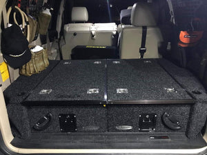 DOBINSONS REAR DUAL ROLLER DRAWER SYSTEM FOR LEXUS GX470 & TOYOTA PRADO 120 WITHOUT REAR A/C WITH FRIDGE SLIDE
