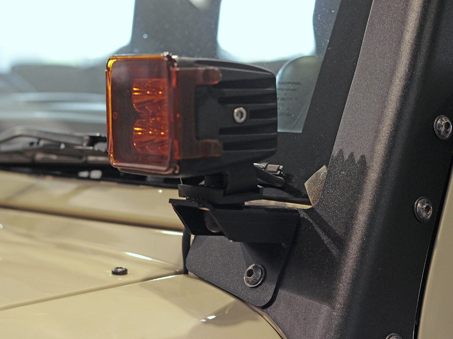 Front Runner JEEP WRANGLER JK/JKU WINDSHIELD SPOT LIGHT BRACKETS
