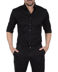 Incognito Stretch Poplin- Black
