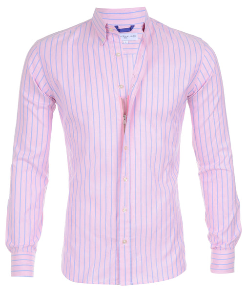 Blue Striped Pink Oxford- Small Batch #15