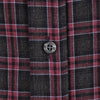 Charcoal & Raspberry Flannel - Small Batch #1