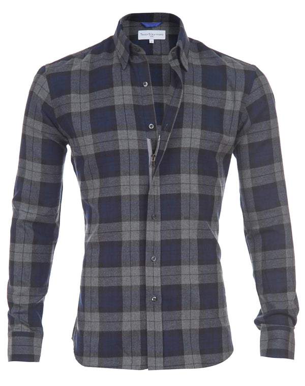 Gray Blue Brushed Flannel- Small Batch #94