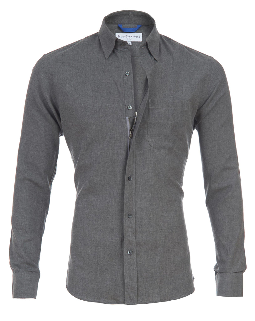 Gray Brushed Flannel- Small Batch #90