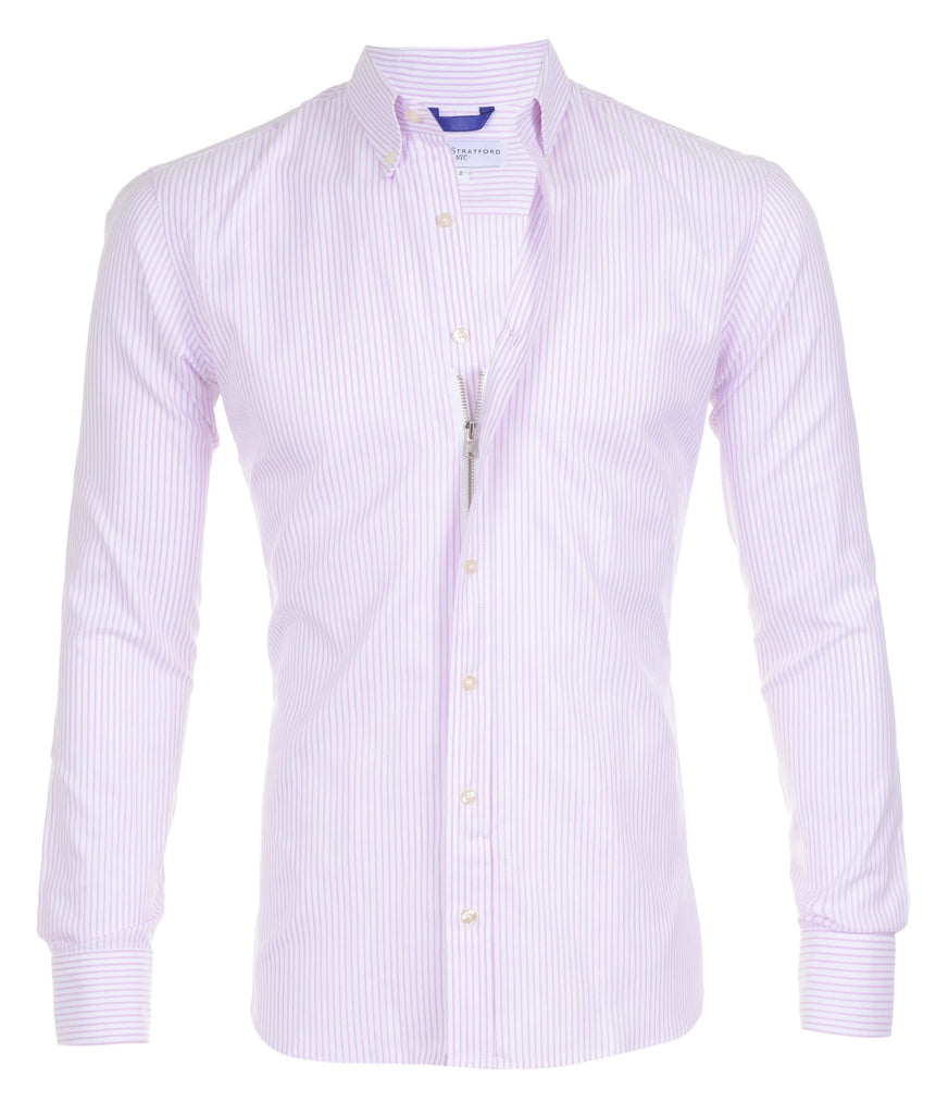 Lavender Pinstriped Oxford