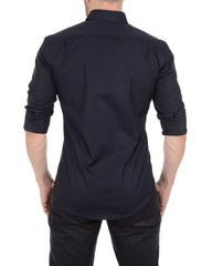 Incognito Stretch Poplin- Midnight