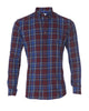 Royal & Maroon Flannel- Small Batch #110