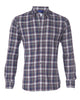 Two Pocket Gray with Navy & Red Flannel- Small Batch #111