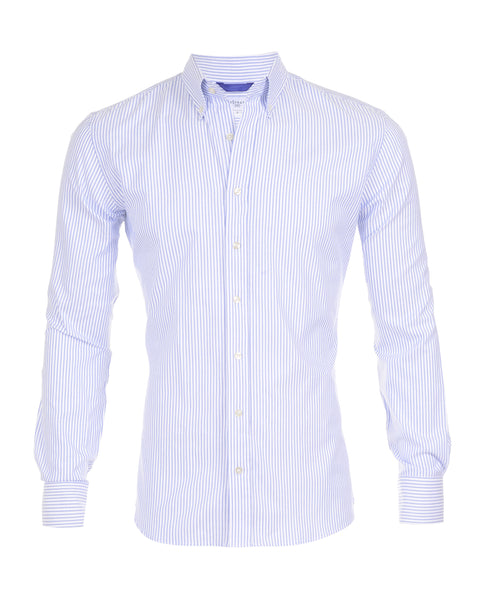 Blue Pinstriped Oxford - Small Batch #12