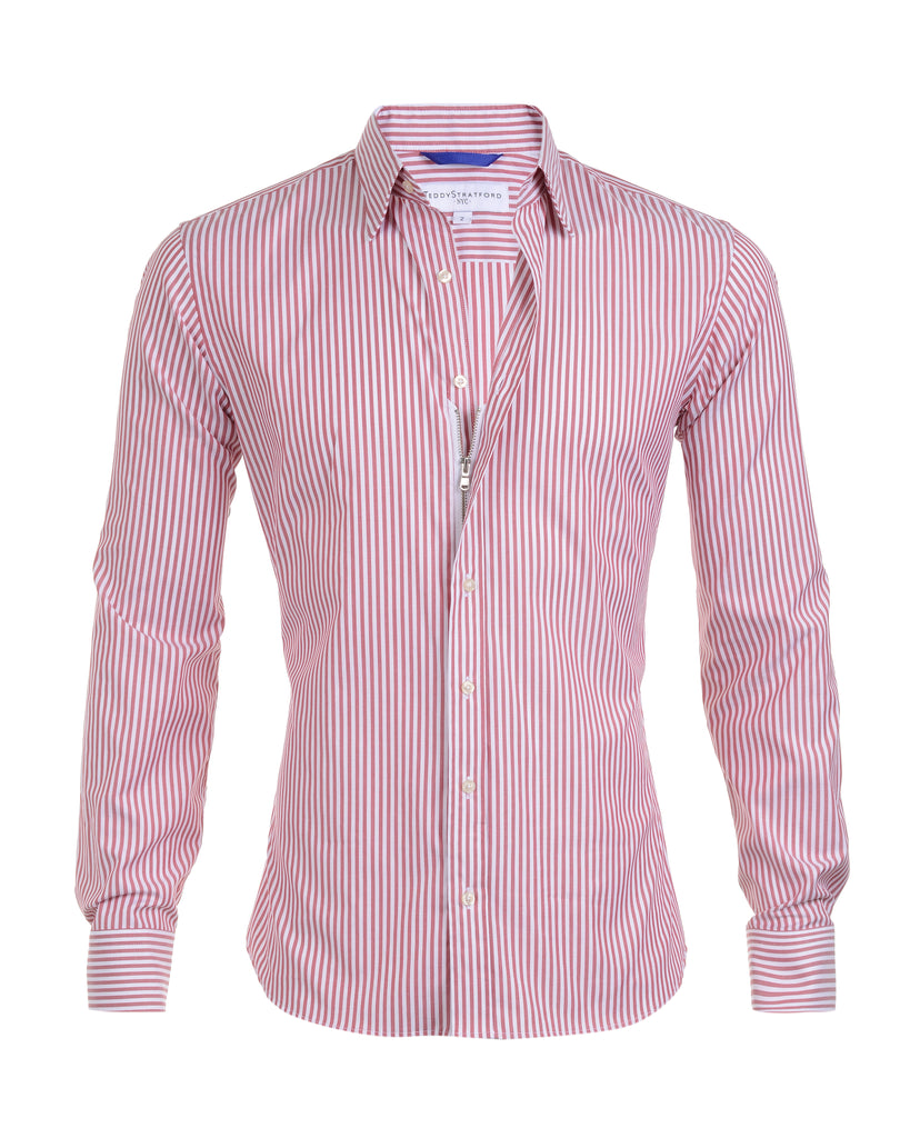 Red Bengal Striped Oxford- Small Batch #27