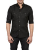 The Pilot Shirt in Black- Small Batch #91