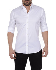 Incognito Stretch Poplin- White