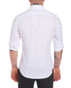 White on White Melange Stripe- Small Batch #124