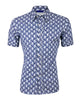 Blue Flower Print <br>Short Sleeve<br>Small Batch #160