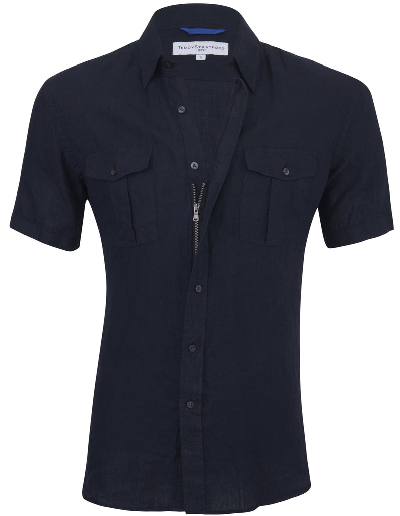 Black Linen Short Sleeves<br>Small Batch #151