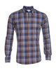 Navy, Light Blue & Brown Plaid - Small Batch #84