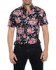 Black Flowered Short Sleeves- Small Batch #58