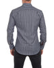 Charcoal Herringbone with Light Blue Stripes - Small Batch #81