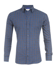 All Season Blue & Tan Flannel- Small Batch #46