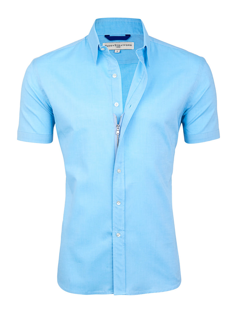 El Aqua Short Sleeved Oxford- Small Batch #73