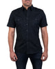 Short Sleeved Pilot Shirt in Black-Small Batch #79