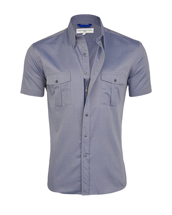 Gray Twill Cop Shirt- Small Batch #77