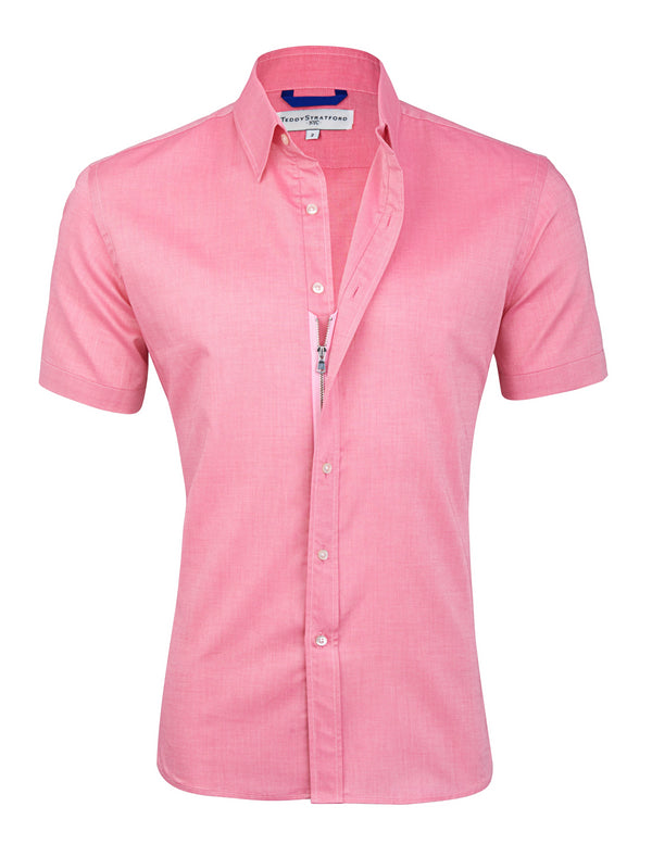 Red Short Sleeved Oxford- Small Batch #74
