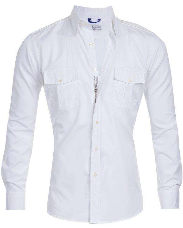 The Pilot Shirt in White-Small Batch #70