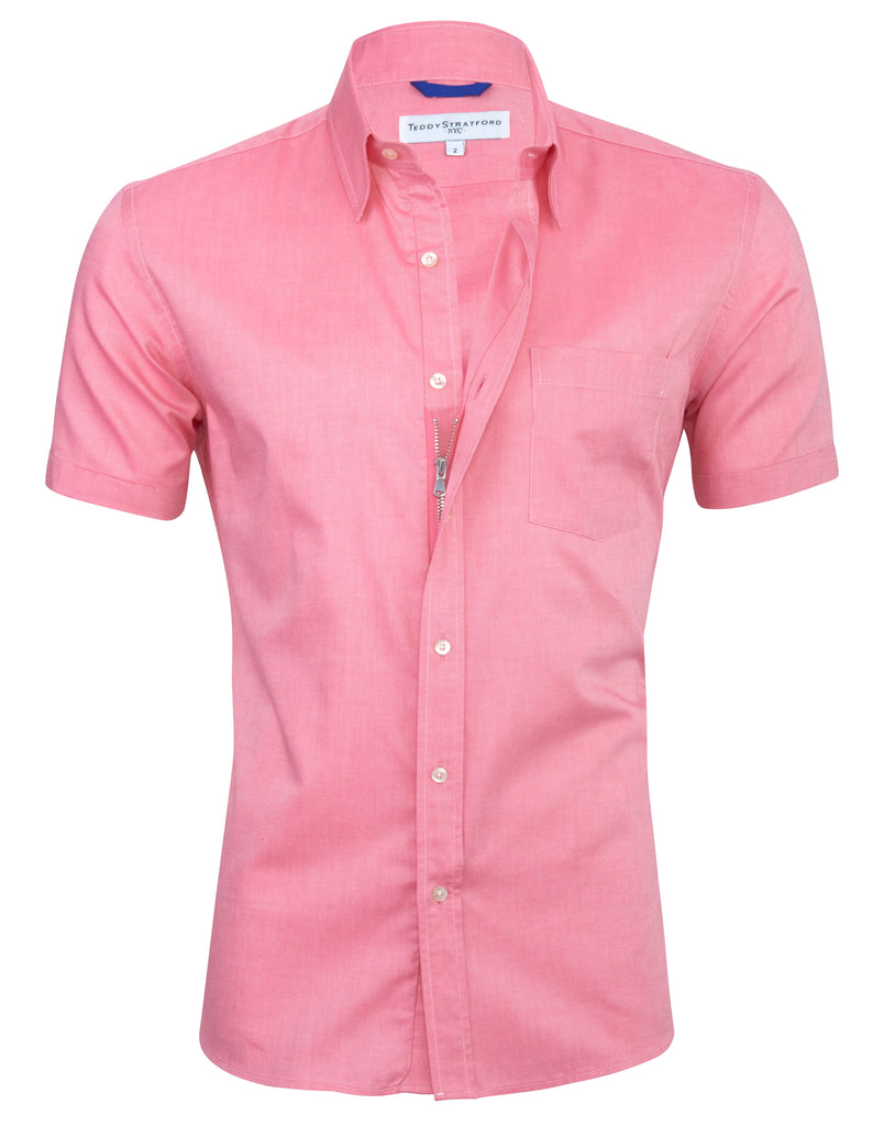 Red Short Sleeved Oxford <br> Small Batch #139