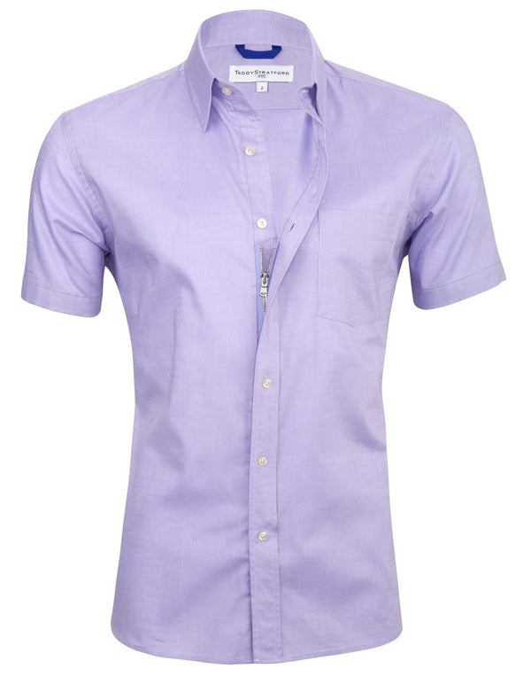 Lavender Short Sleeved Oxford - Small Batch #140