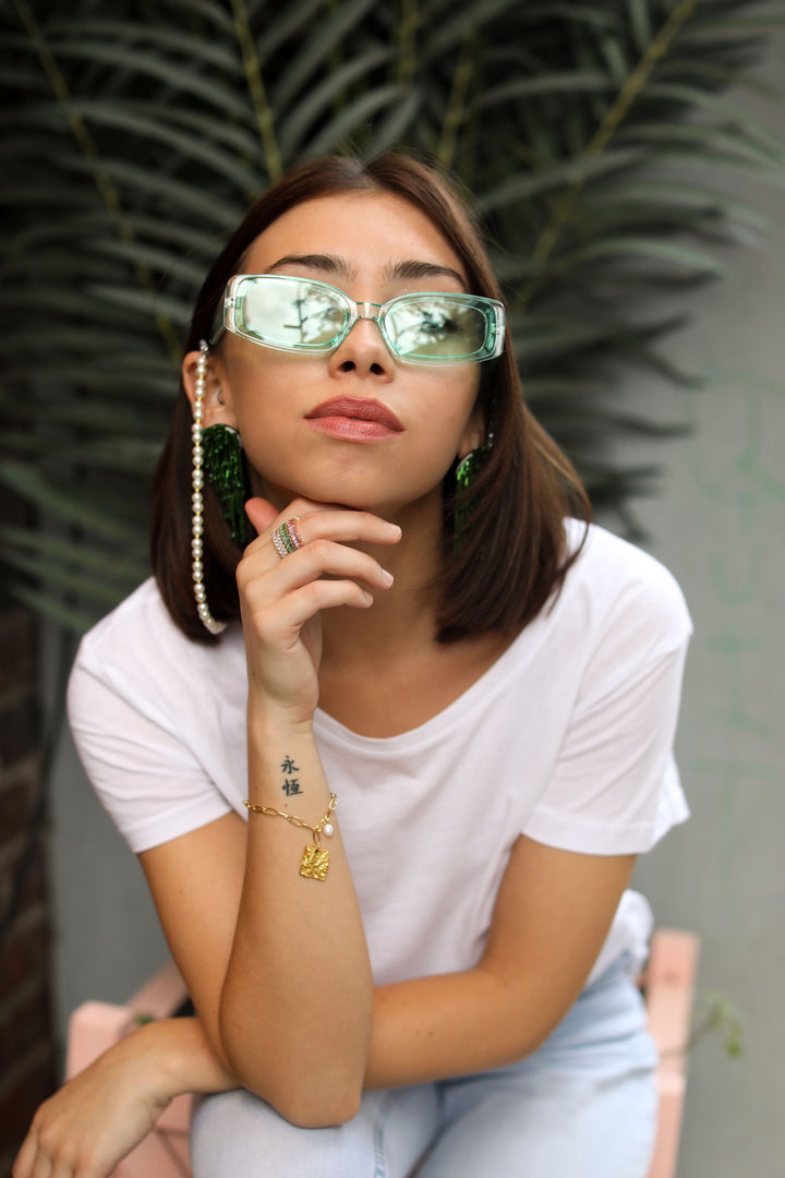 Bailee Henderson Styles Our Sunnies With Us in the West Village