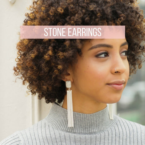 Stone Earrings - Mulberry & Grand