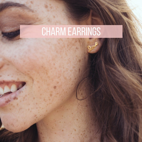 Charm Earrings - Mulberry & Grand