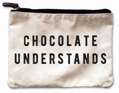 Chocolate Understands Canvas Pouch