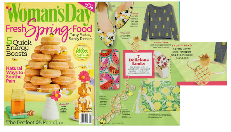 Woman's Day Mulberry & Grand Pineapple Ring Feature