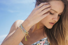 Girl Wearing Lots Of Bracelets