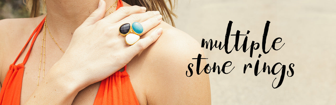 Multiple Stone Ring Lookbook Image