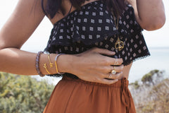 Detail Shot With Lots of Bracelets & Rings