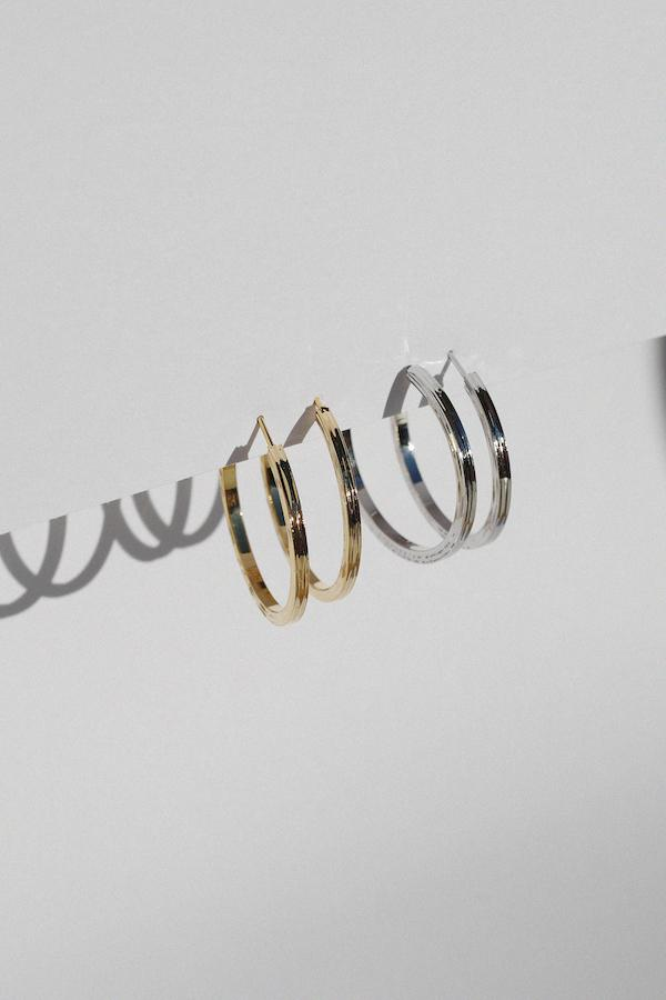 Alessi Textured Hoop Earrings