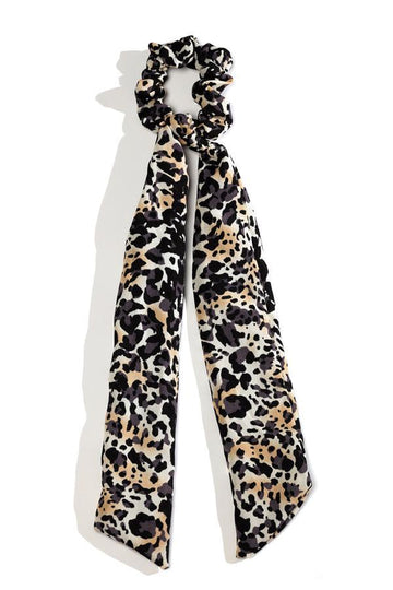 Animal Print Scarf Scrunchie