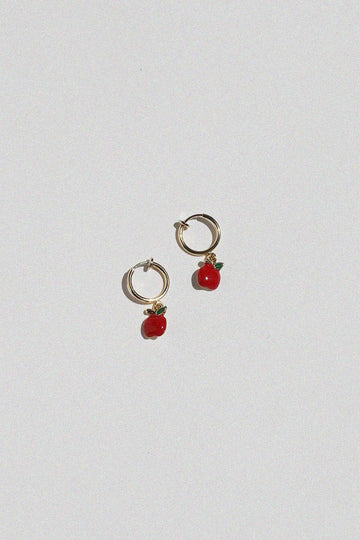 Apple Clip On Earrings