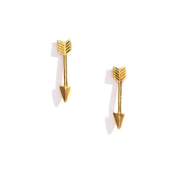 Arrow Charm Earrings, Charm Earrings - Mulberry & Grand