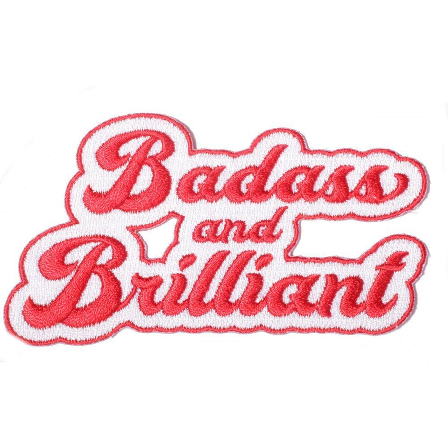 Badass and Brilliant Embroidered Patch, Patch - Mulberry & Grand