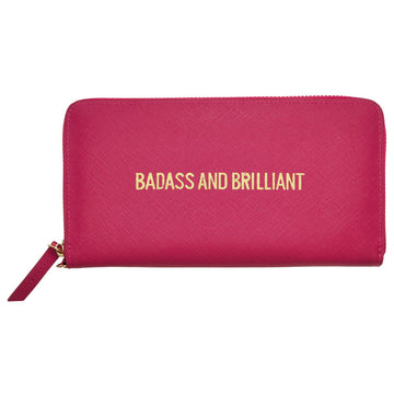 Badass & Brilliant Zip Wallet, Zip Wallet - Mulberry & Grand