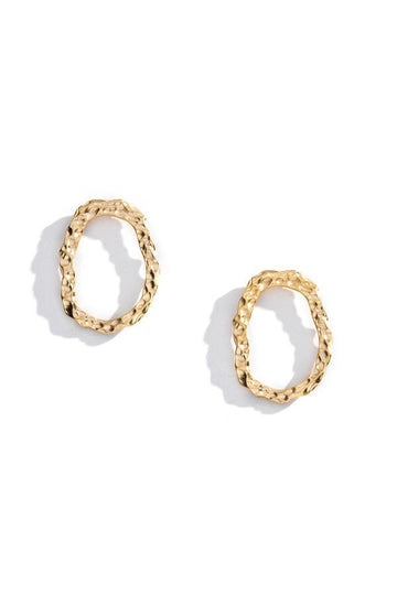 Bailey Flat Hoop Earrings