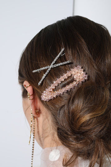 Beaded Hair Clip Hair Accessory Mulberry & Grand